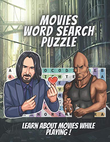 Movies Word Search Puzzle: 1000+ Words in Search Puzzles Large Print. Improve Your Vocabulary and Reading Skills While Playing !