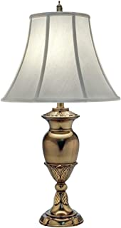 Stiffel TL-N8451-BB One Light Table Lamp, Burnished Brass Finish with Pear Supreme Satin Shade