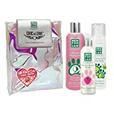 Pack Higiene y Belleza para Gatos Menforsan | Champú Muy Suave Gatos 300ml | Colonia Fresa para Gatos 125ml | Champú en Espuma para Perros y Gatos 200ml | Rico Aroma a Fresa
