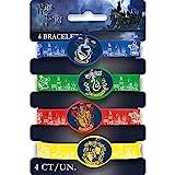 Unique Party 59068 - Jouets pour Pochette Cadeau - Bracelets en Silicone - Fête à thème Harry Potter - Paquet de 4