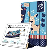 DuraSafe Cases for iPad PRO 12.9-2 Gen Slimline Series Lightweight Protective Cover with Dual Angle Stand & Clear PC Back Shell - Puppy Friend