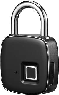 Fingerprint Padlock, Alloet Waterproof Keyless Anti-Theft Padlock, Suitable for Door, Cabinet, Backpack, Cargo, Bike, Luggage, Support USB Charging