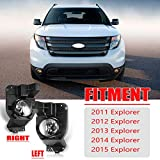 Fog Lights Compatible with 2011-2015 Ford Explorer, AUTOFREE Ford Explorer Driving Fog Spot Lights Replacement Kits,1 Pair(Clear Lense)