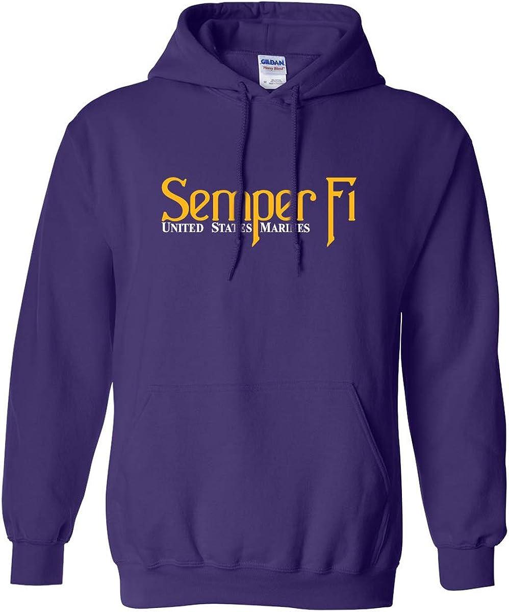 Semper Fi United States Marines Adult Hooded Sweatshirt