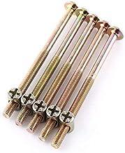 M6 meubelschroeven 40 mm / 60 mm / 80 mm / 90 mm / 100 mm, verzinkt koolstofstaal, met cilindermoeren, deuvelmoeren, stekk...