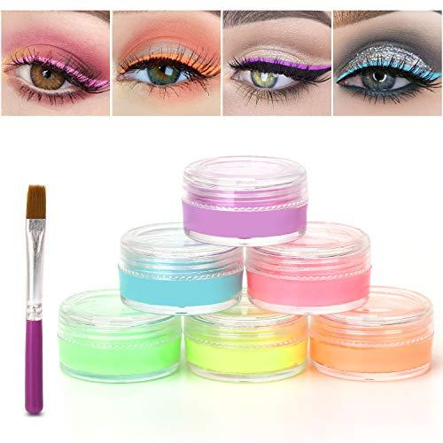 Maydear 6 Colors Water based Eyeliner gel Set-Masquerade Body Face Paint Makeup – Light Color Set