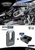 Artago 69T6 Antirrobo Disco Alta Gama y Soporte Yamaha MT-09 y Tracer 900, homologado Sra, Sold Secure Gold, ART4, Metalico