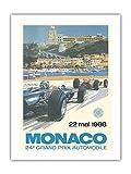 Mónaco 24E gran premio–22. Mayo 1966–Circuito de Monaco, Monte-Carlo–formule-1–Monsieur Jackie Stewart–antigua cartel publicidad vintage Póster de Michael Turner 1966–Beaux-Arts Imprime Fine Art Print, 46cm x 61cm Premium Giclée