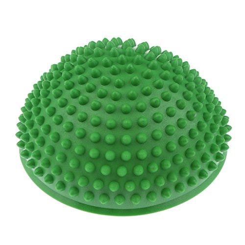 perfeclan Balance Kissen mit Noppen - Halbkugel Igel Balance Pad für Balanceübungen - Grün