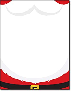 Santa's Beard Holiday Stationery Paper - 80 Sheets