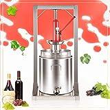 DEE Mehrzweck-Entsafter, große Fruchtpresse - 12-20 Liter-Manuelles Druckgerät - Poliertes Aluminium in Lebensmittelqualität mit Edelstahlpresse, für die Herstellung von Wein und...