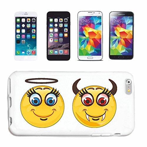 Reifen-Markt Hard Cover - Funda para teléfono móvil Compatible con Apple iPhone 7 Ángeles y Demonios Sonriente Smiley Smilies Android Apple iPhone EMOTICONOS iOS s