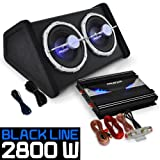 electronic star AUNA Black Line 140 - Set HiFi Auto - Pack Tuning Voiture avec...
