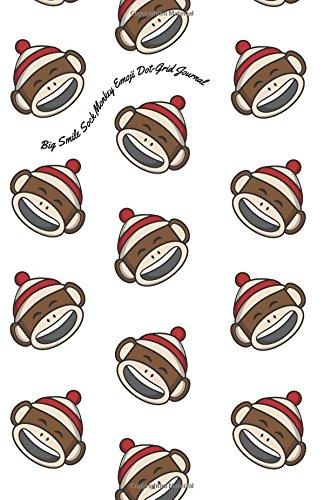 Big Smile Sock Monkey Emoji Dot-Grid Journal: A Dot-matrix Book for Bullet Journaling, Dot Journaling, Sketching, and Hand-Lettering