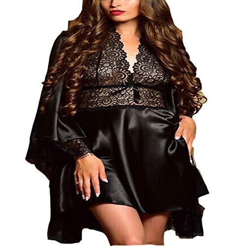Nachtkleding badjassen grote maat sexy pop dragen antislip roben satijn anti zijde anti-statisch sliding net effen kleur