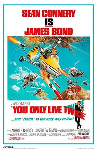 Pyramid America - Poster Laminato cancellabile a Secco con Scritta James Bond You Only Live Twice, 30,5 x 45,7 cm