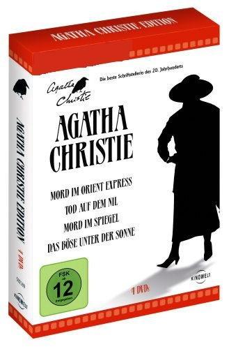 Agatha Christie Box (4 DVD's) Mord im Orient Express, Tod auf dem Nil, Mord im Spiegel, Das Böse unter der Sonne