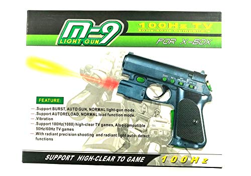 M-9 Xbox Wired Light Gun for Microsoft Xbox System Shooting Games (Not for Xbox 360 or Xbox One)