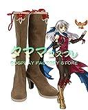 ミカヤ ファイアーエムブレム 暁の女神 Fire Emblem: Radiant Dawn Micaiah コスプレ靴 コスプレブーツ cosplay オーダーサイズ/スタイル 製作可能 【タママ】(23.5cm)