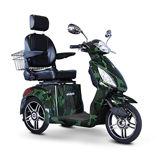 Review Of E-Wheels - EW-36 Full-Sized Scooter - 3-Wheel Mobility Scooter, Camouflage