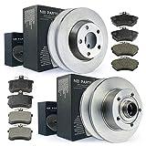 Jeu de disques de frein complet + plaquettes de frein avant + arrière NB Parts Allemagne 10040947