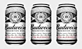 Budweiser Prohibition 0.0% Alcohol Free Lager Beer 24x330ml cans, no...