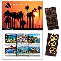 "DA CHOCOLATE キャンディ スーベニア ""カリフォルニア"" CALIFORNIA チョコレートセット 7,2×5,2一箱 (DARK Apricot Pretzel Coconut)"