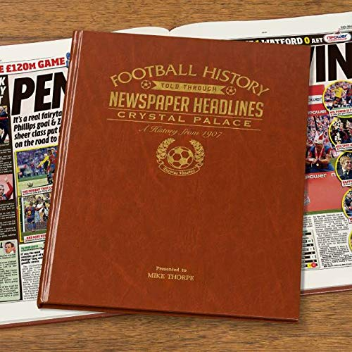Signature gifts Premium Personalised Football Newspaper Book - Crystal Palace