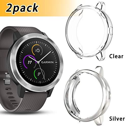 Anzela - Confezione da 2 custodie per smartwatch Garmin Vivoactive 3...