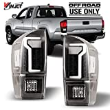 Winjet Compatible with [2016 2017 2018 2019 2020 Toyota Tacoma] LED Glow Bar Running Tail Lights