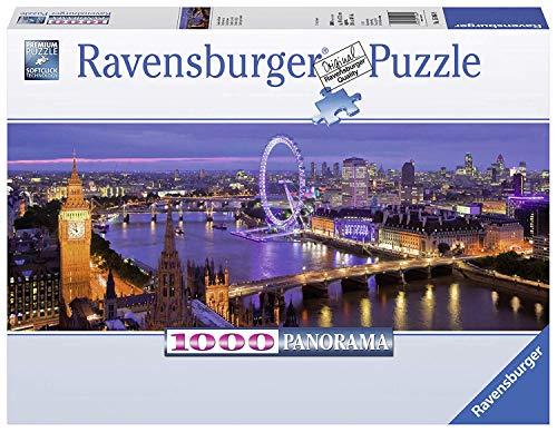 Ravensburger Londra Di Notte, Puzzle Panorama per Adulti con Tecnologia Softclick, Età Consigliata 14+, 1000 Pezzi