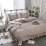 多色選択 アンティーク風綿100%可愛いベッドカバーセット シングル