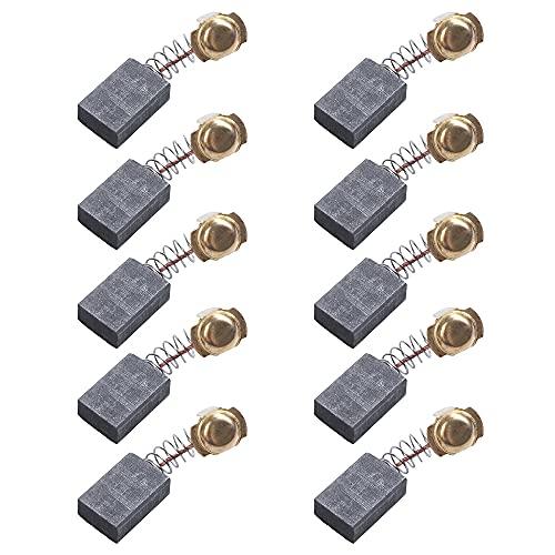 10 escobillas de carbón de repuesto para motor Makita JN1601, 16 mm, color negro