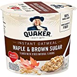 Quaker Instant Oatmeal Express Cups, Maple & Brown Sugar, 12 Count