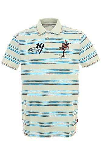 Signum Polo Poloshirt Herren Kurzarm, Farbe:weiß;Herrengrößen:L