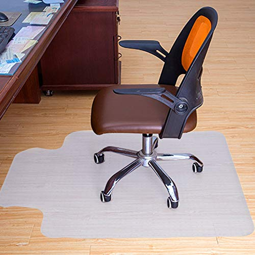 Vloermat, PVC, transparant, T-vorm, 90 x 120 cm, voor bureaustoel, met anti-slip vingernagels, vloerbeschermingsmat