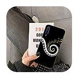 uulalala Coque Note de Musique pour Huawei Y5 II Y6 II Y5 Y6 Y7 Prime Y7Plus Y9 2018 2019-a13-For Y6...