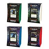 Magic: The Gathering Adventures in the Forgotten Realms Commander Deck Bundle – Includes 1 Draconic Rage + 1 Planar Portal + 1 Dungeons of Death + 1 Aura of Courage