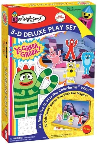 Colorforms 3D Deluxe Play Set Yo Gabba Gabba product image