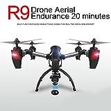 Hanbaili Drone trasmissione R9 in tempo reale con telecamera WIFI FPV, motore ad...