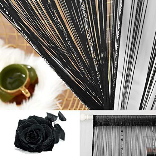 WEIXINHAI 2 Sätze Fadenvorhang Fadengardine Vorhang Perlenvorhang 100x200 cm - Tür Perlen Vorhänge Raumteiler Anti-Moskito