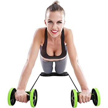 KAZOLEN Double Ab Roller Wheel Perfect Home Workout Equipment for Women Men Exercise Equipment for Home Gym Core Abdominal Exercise Fitness Trainer Machine