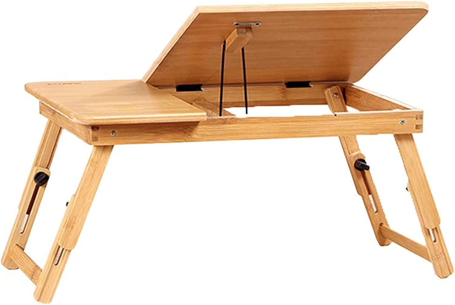 LVZAIXI Portable Folding Laptop Desk with Adjustable Height with Drawers, Multiple Size   (50  30  25cm) Without Drawers