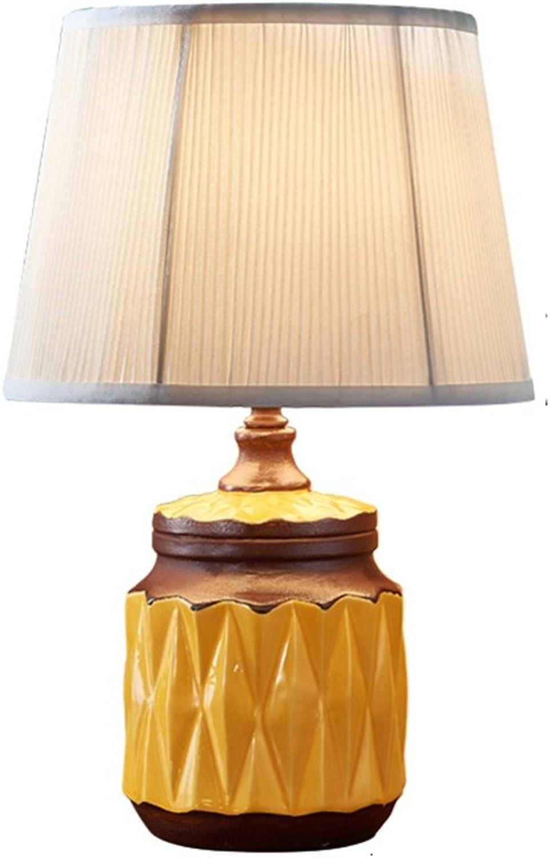 XiuXiu Moderne minimalistische Keramik Stoff Tischlampe Nachttischlampe Wohnzimmer Studie Büro Schlafzimmer Dekoration Tischlampe (Farbe   Button switch) B07HMGY4SP     | Bekannt für seine hervorragende Qualität