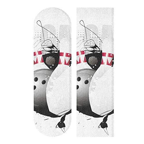 BEUSS Bowling Kunst Muster Skateboard Griptape rutschfest Selbstklebend Longboard Griptapes Aufkleber Griffband(84 * 23cm 1pcs)