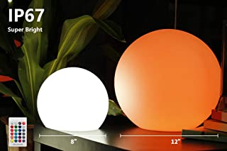 YESIE 12-Inch Cordless LED Floating Pool Ball, New Removable and Easy Charging LED Module,16 RGB Colors
