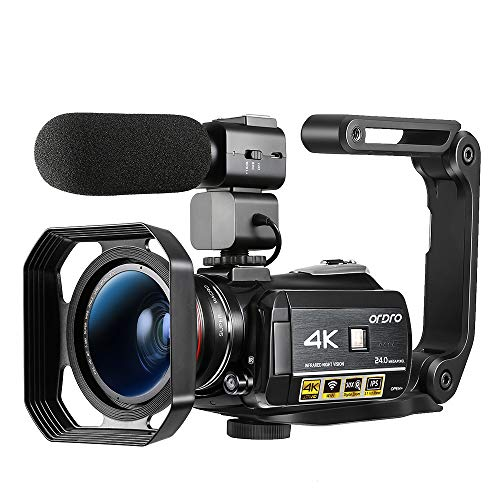 Ordro AC3 Video Camera 4K Camcorder Ultra HD Vlog Camera for YouTube, 3.1'' IPS Screen 30X Digital...