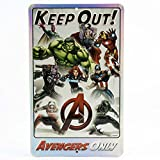 Open Road Brands Marvel Keep Out Avengers Only Embossed Metal Sign