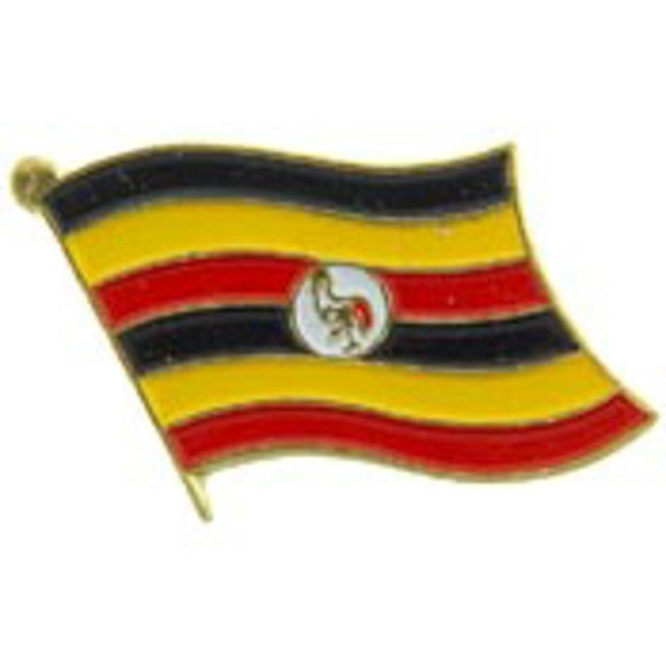 EagleEmblems P09660 PIN-Uganda (Flag) (1'')