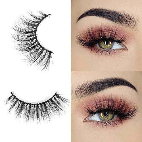 Arison Lashes Falsche Wimpern Natürlichen Look Handgemachte Crisscross 3D Wiederverwendbar 1 Paar Künstliche Wimpern Dicken Augen Wimpern